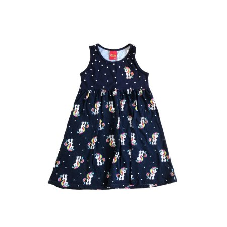Vestido KYLY Infantil Marinho Unicórnios