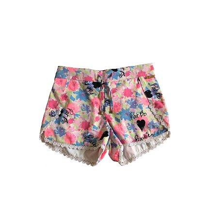 Shorts PATBO para C&A Infantl Florido