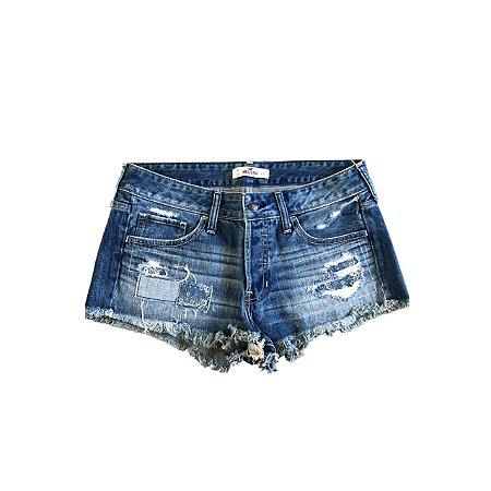 Shorts Jeans HOLLISTER Feminino Retalhos