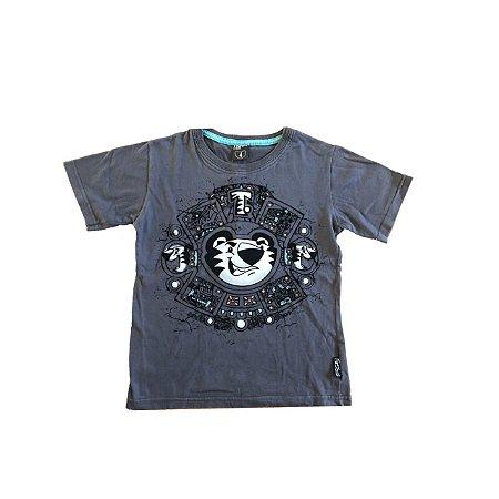 Camiseta TIGOR Infantil Chumbo Tigre