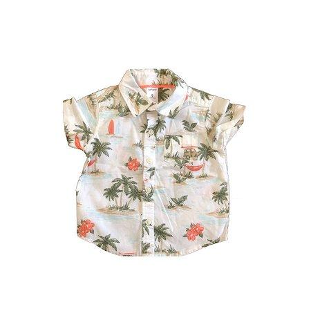 Camisa CARTER`S Infantil Branca Coqueiros