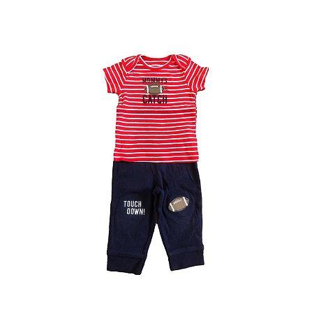 Conjunto CARTER`S Infantil Camiseta Listras e Calça