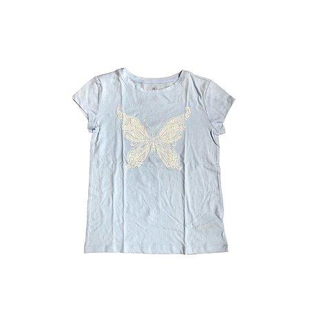 Camiseta GAP KIDS Infantil Azul Claro Borboleta