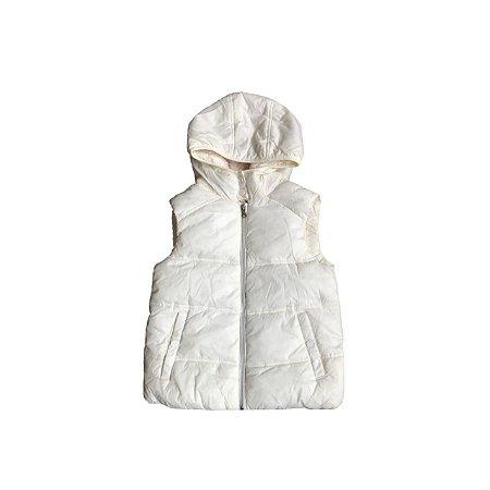 Colete Nylon ZARA Infantil Off White Forrado