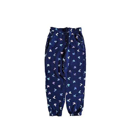 Calça H&M Azul Marinho com Unicórnios Coloridos