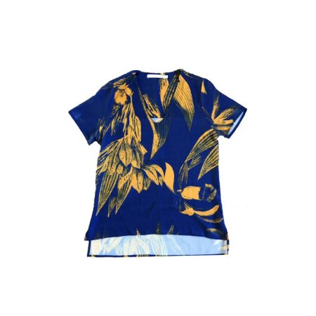 Blusa SACADA Feminina Azul e Amarela