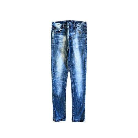 Calça Jeans ANIMALE Feminina Azul Manchada