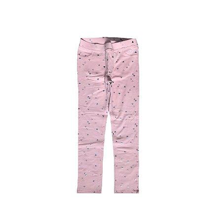 Legging H&M RosaClaro com Corações  - NOVA