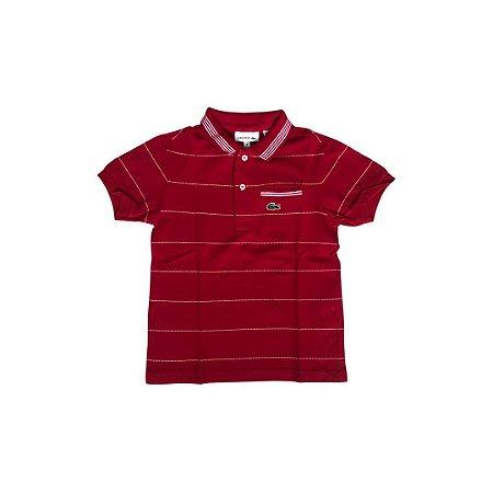 Camiseta Polo LACOSTE Infantil Vermelho