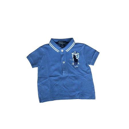 Camiseta Polo RALPH LAUREN Infantil Azul (mais desbotada)