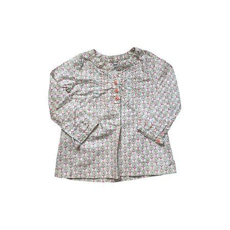 Camisa CARTER´S Infantil Losango Rosa Fluor