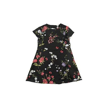 Vestido PAOLA BIMBI Infantil Verde Musgo Flores