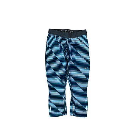 Legging NIKE Feminina Listras Azul