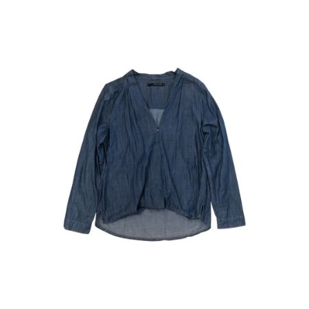 Camisa Jeans SHOULDER Feminina Azul