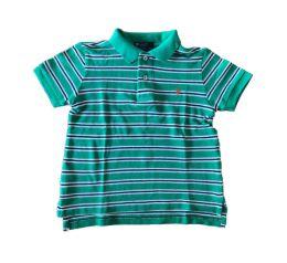 Polo Listrada Verde, Branca e Azul Ralph Lauren