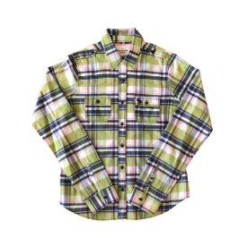 Camisa Xadrez Verde e Azul Abercrombie & Fitch