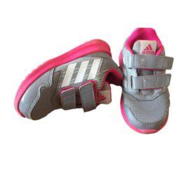 Tênis Cinza e Pink Adidas