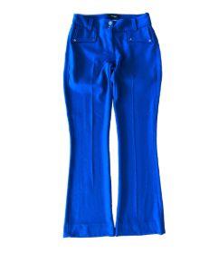 Calça Social Azul Royal com Detalhe no Bolso Amíssima