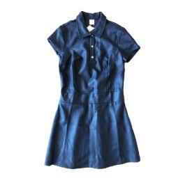 Vestido Courino Azul Marinho Annick