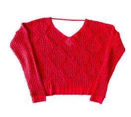 Blusa Tricot Vermelha Maria Filó