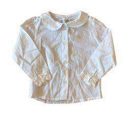 Camisa Social Gola Redonda ( renda manga rasgada) Matinée