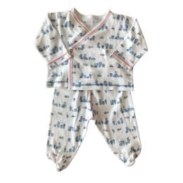 Conjunto Blusa Manga Longa e Calça Branca e Prédios Baby Cottons