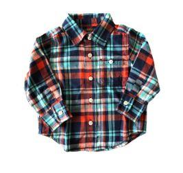 Camisa Xadrez Azul, Verde e Vermelha Baby Gap