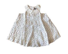 Vestido Branco com Borboletinhas Azuis Baby Gap