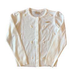 Tricot Branco Laços Milon
