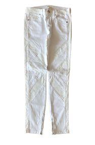 Calça Reta Branca com Zíper MOB