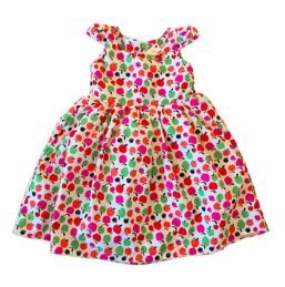 Vestido Maçãs Coloridas Mundo Faz de Conta