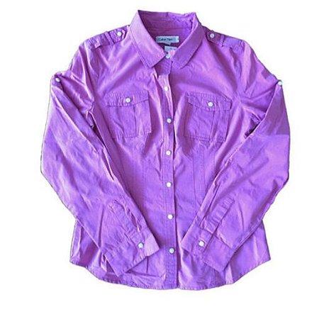 Camisa Rosa Listrada Calvin Klein