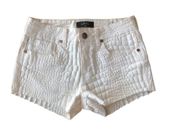 Shorts Branco Canal
