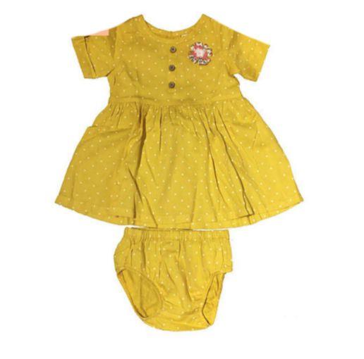 Vestido Carter's Infantil Amarelo Poá