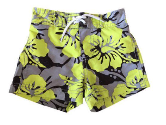 Shorts  Carter's Infantil Amarelo e Cinza