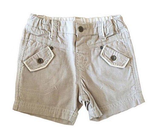 Shorts Cinza com Bolso Chicco