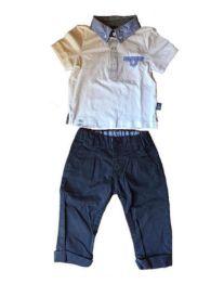 Conjunto Polo e Calça Azul Marinho Original Marines