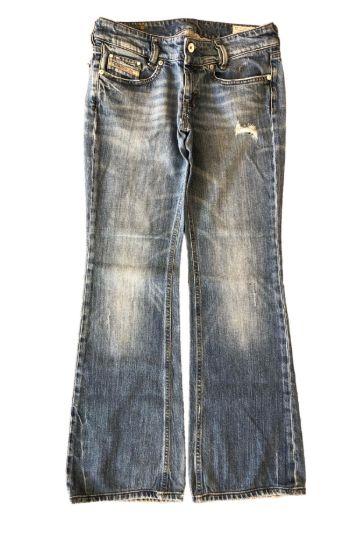 Calça Jeans Clara Rasgada Diesel