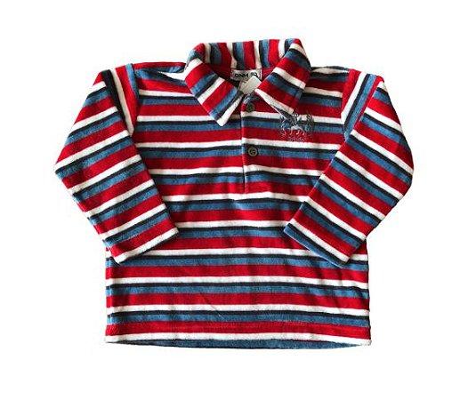 Blusa de Plush Listradas DNM