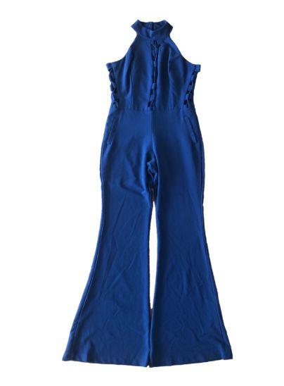 Macacão Longo Azul Royal com Detalhes Laterais e na Frente  - com Etiqueta Golden Dress