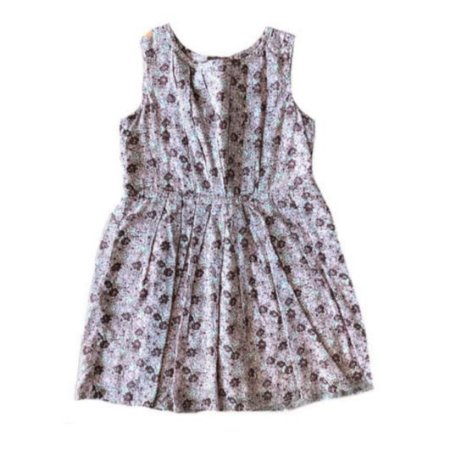 Vestido Bordô e Rose Flores Gap Kids