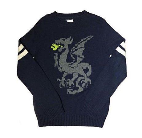 Blusa de Lã Azul Dragão Gap Kids