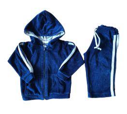 Conjunto de Plush Azul Marinho e Cinza (com bolsinho descosturando) Petit Poéme