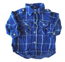 Camisa Azul Marinho Xadrez Paola Bimbi