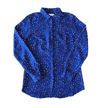 Camisa Azul com Bolas Coloridas Issa para C&A