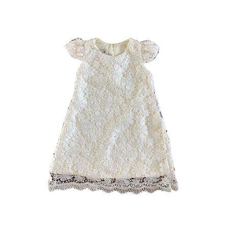 Vestido Renda Branco Via Flora