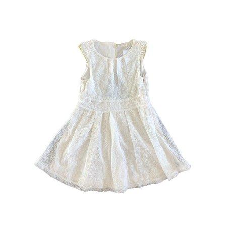 Vestido Off White Renda Zara Girls