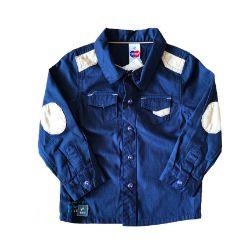 Camisa Azul e Bege Tip Top