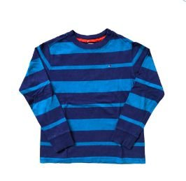 Blusa Manga Longa Tons Azul Tommy Hilfinger