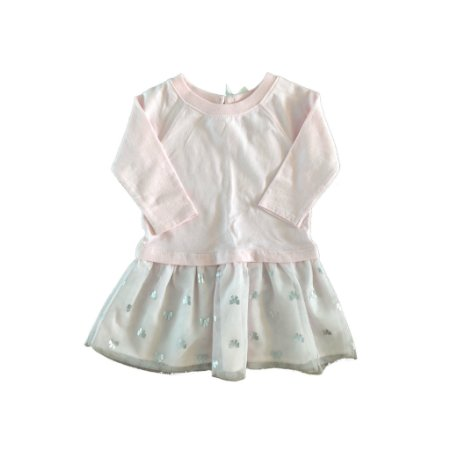 Vestido Carter's Infantil Rosa com Tule